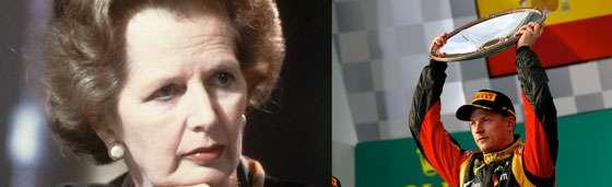Margaret Thatcher Kimi Raikkonen