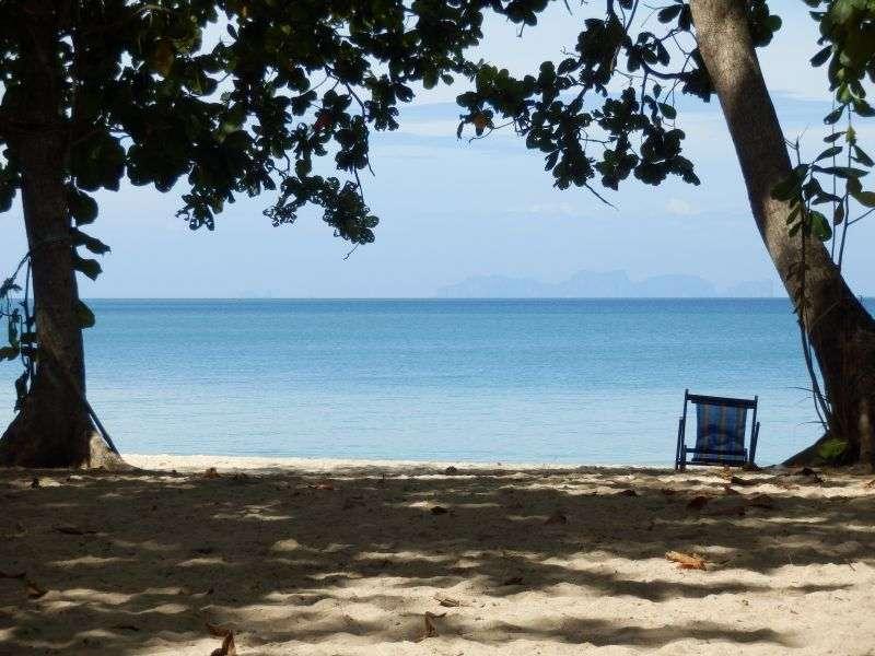 fantastische Aussicht aus dem Restaurant auf den Strand
