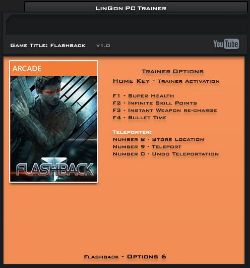 Flashback v1.0.0 Steam +6 Trainer [LinGon]
