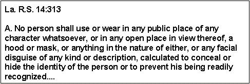 Louisiana Revised Statutes 14:313