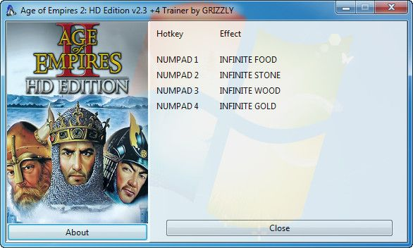 Age of Empires 2: HD Edition v2.3 +4 Trainer [GRiZZlY]