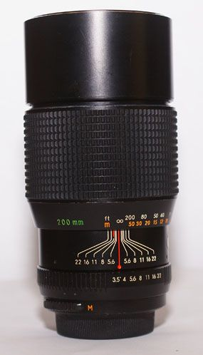 Auto chinon 200mm f3 5 sn 504964 for Garage sn autos 42