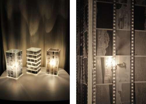 Декоративный светильник своими руками из ч/б пленки